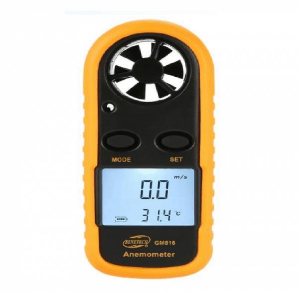 Anemometro Termometro Medidor De Velocidad Del Viento