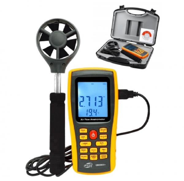 Anemometro Termometro Digital Data Logger