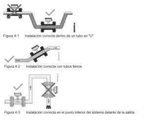 Instalacion medidor flujo electromagnetico siemens