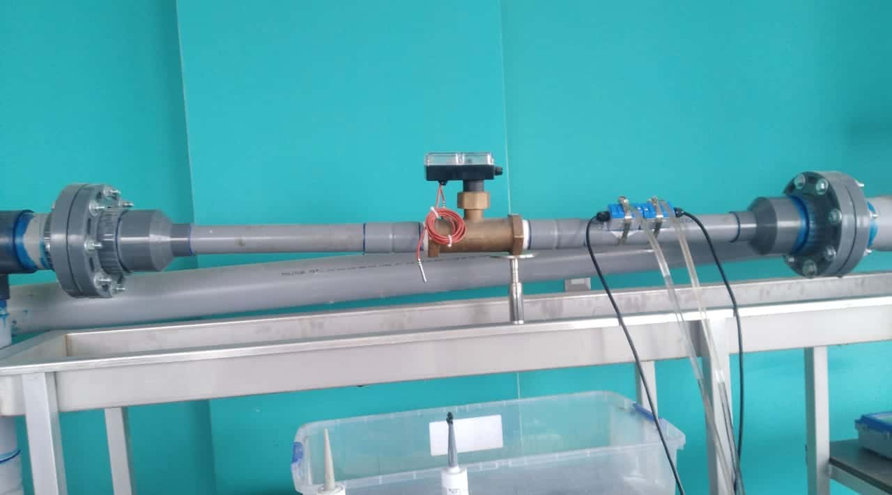 Instalacion Medidor de agua turbin