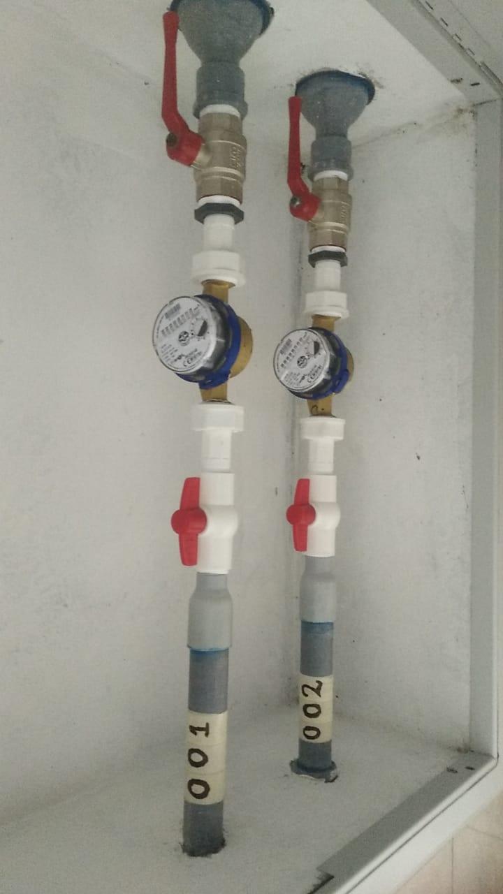 Instalacion de contometros de agua